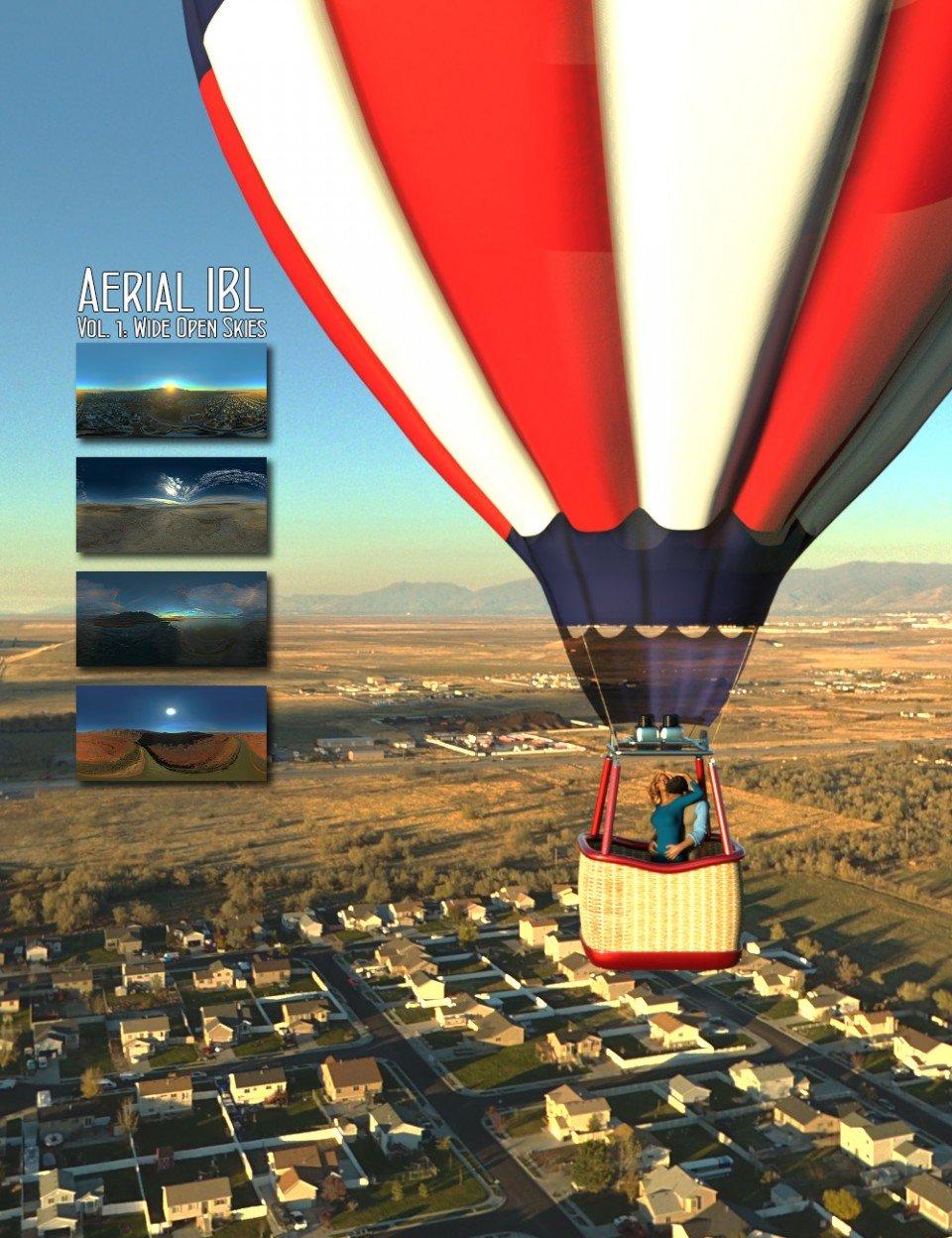 Aerial IBL Wide Open Skies HDRI_DAZ3D下载站