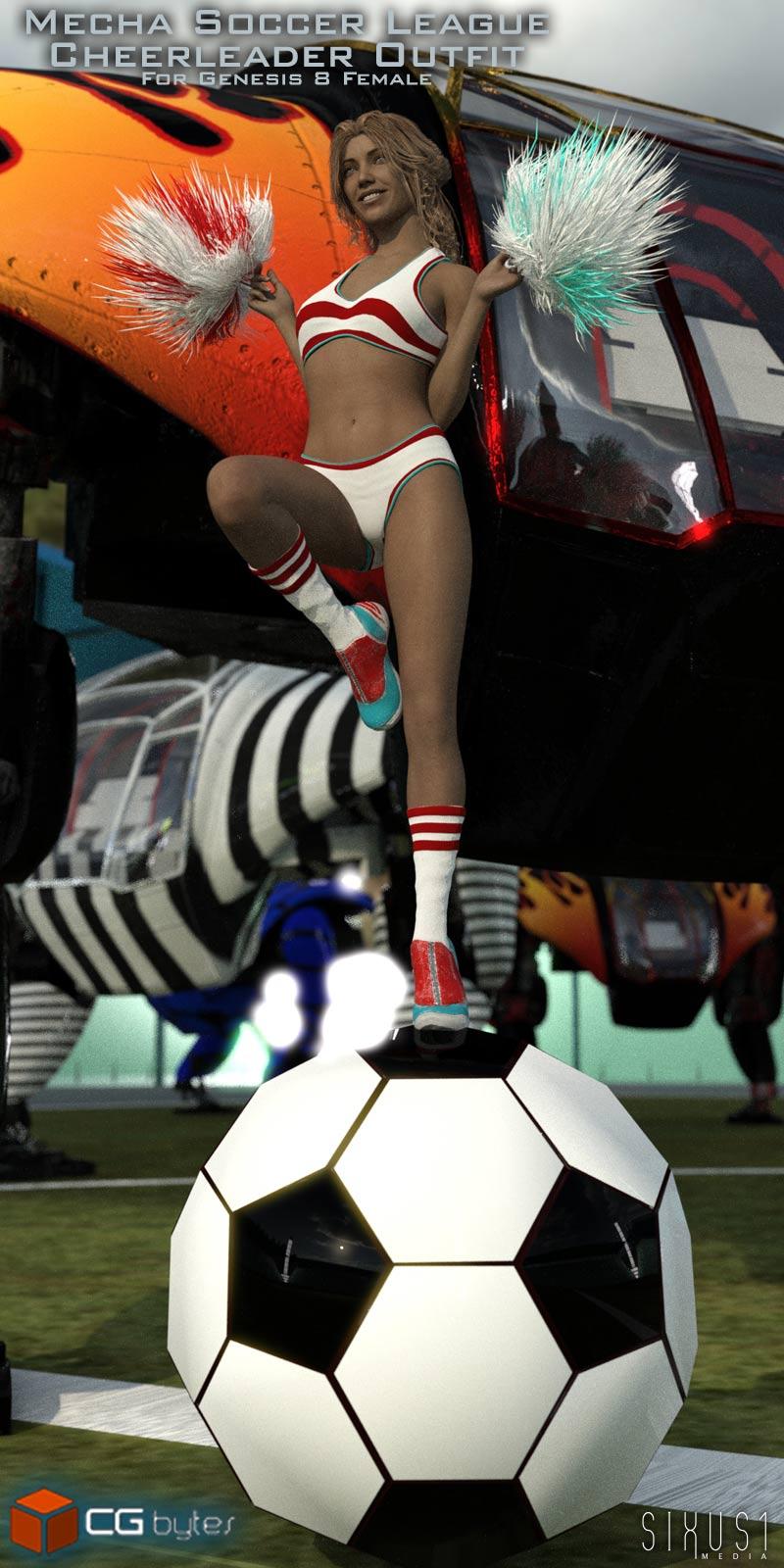 ArtDev Mecha Soccer League Cheerleader Outfit For G8F_DAZ3D下载站