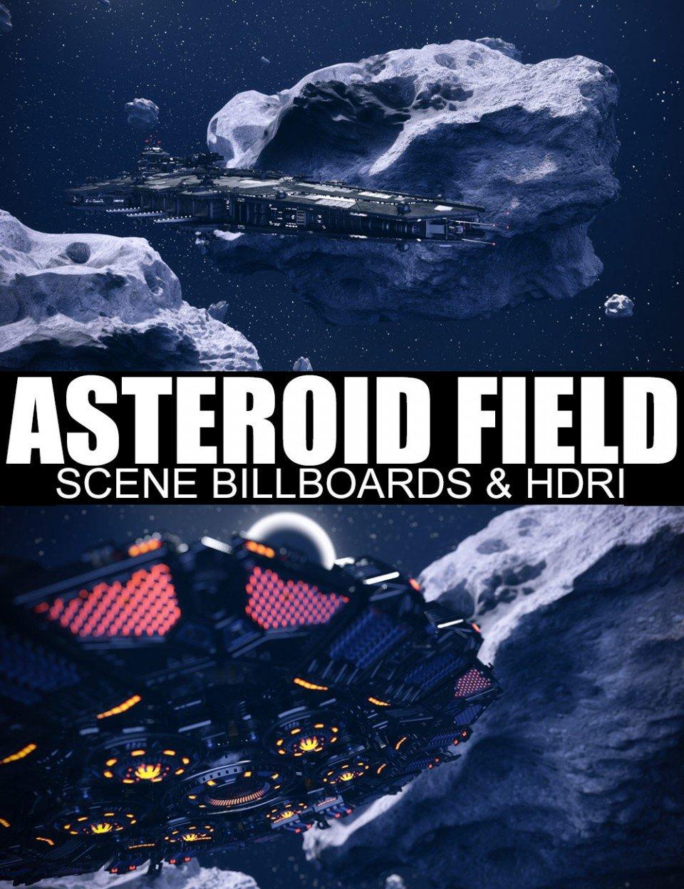 Asteroid Field Scene Billboards and HDRI_DAZ3D下载站