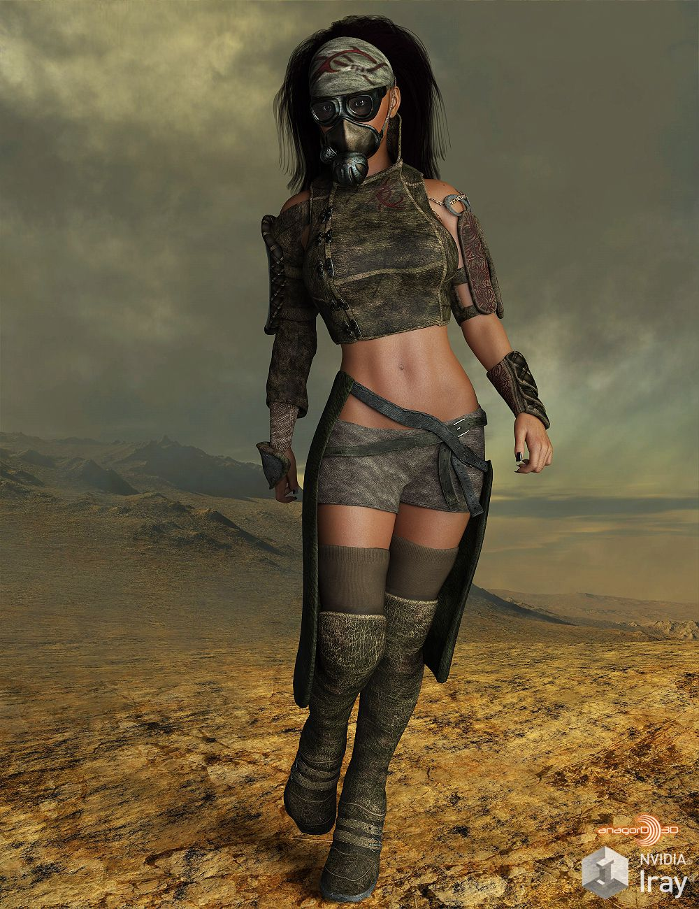 BLACKHAT – Outlanders: Survivor – for DazStudio and Genesis 8 Female_DAZ3D下载站