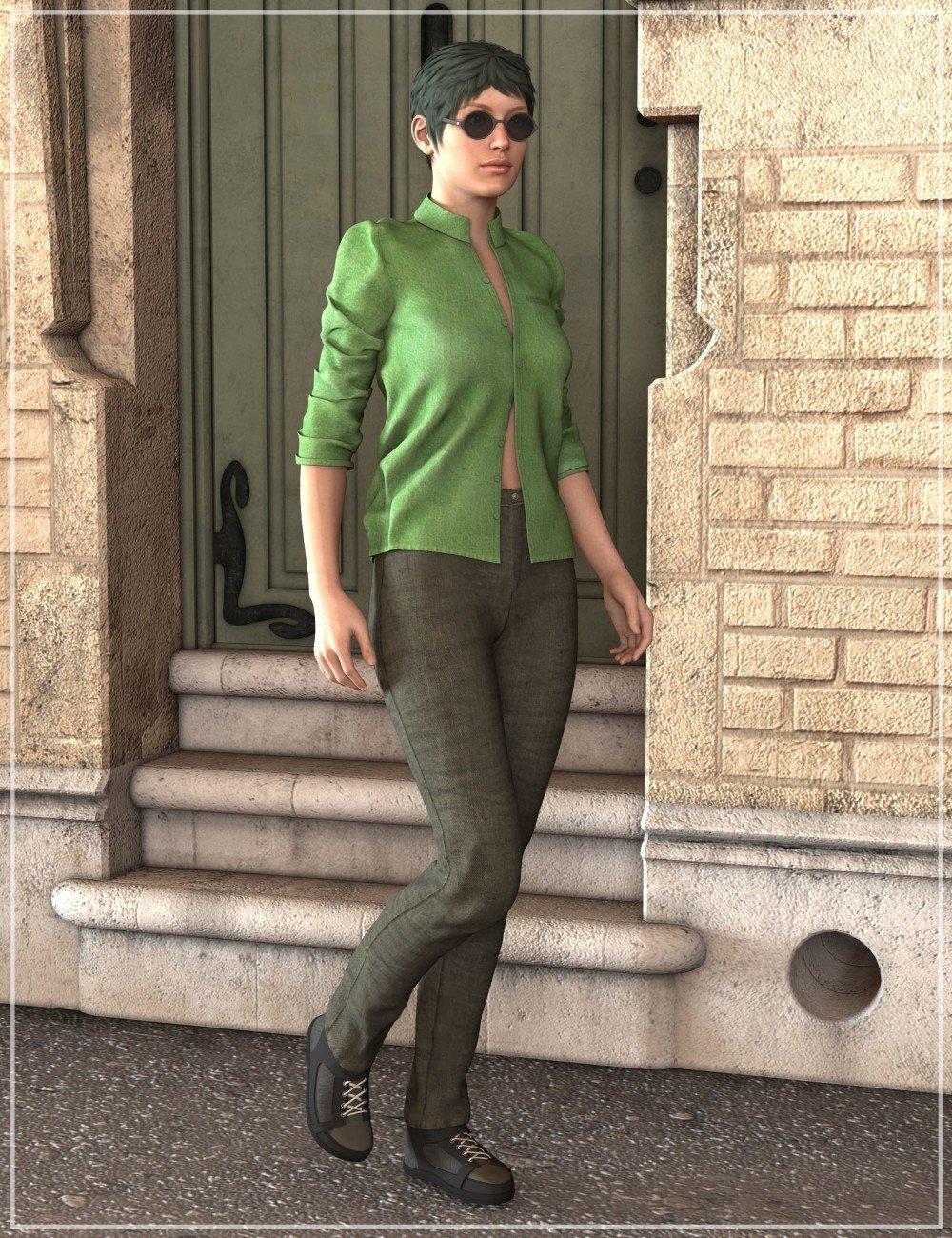 Casual Streetwear for Genesis 2 Female(s)_DAZ3D下载站