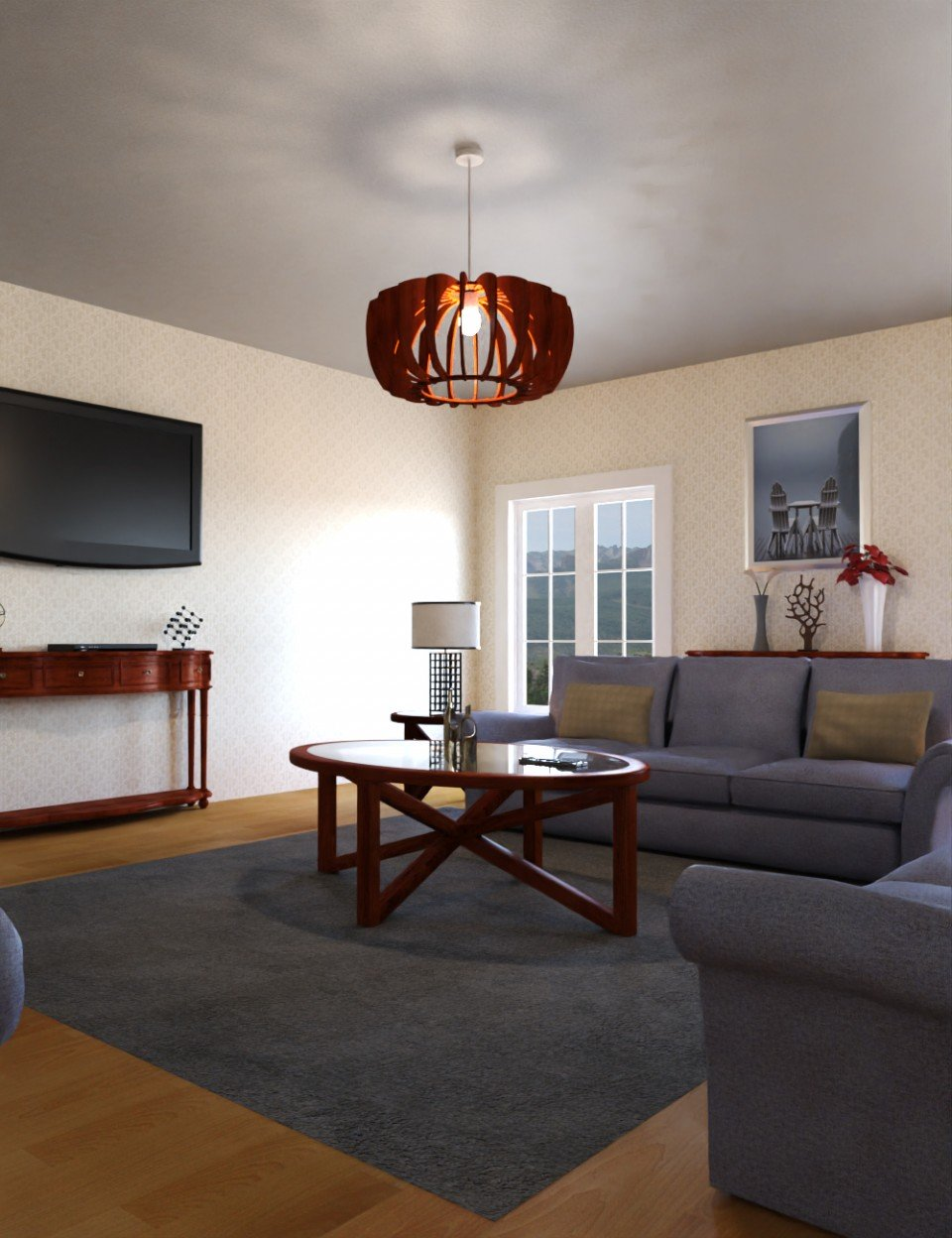Classic Living Room_DAZ3D下载站