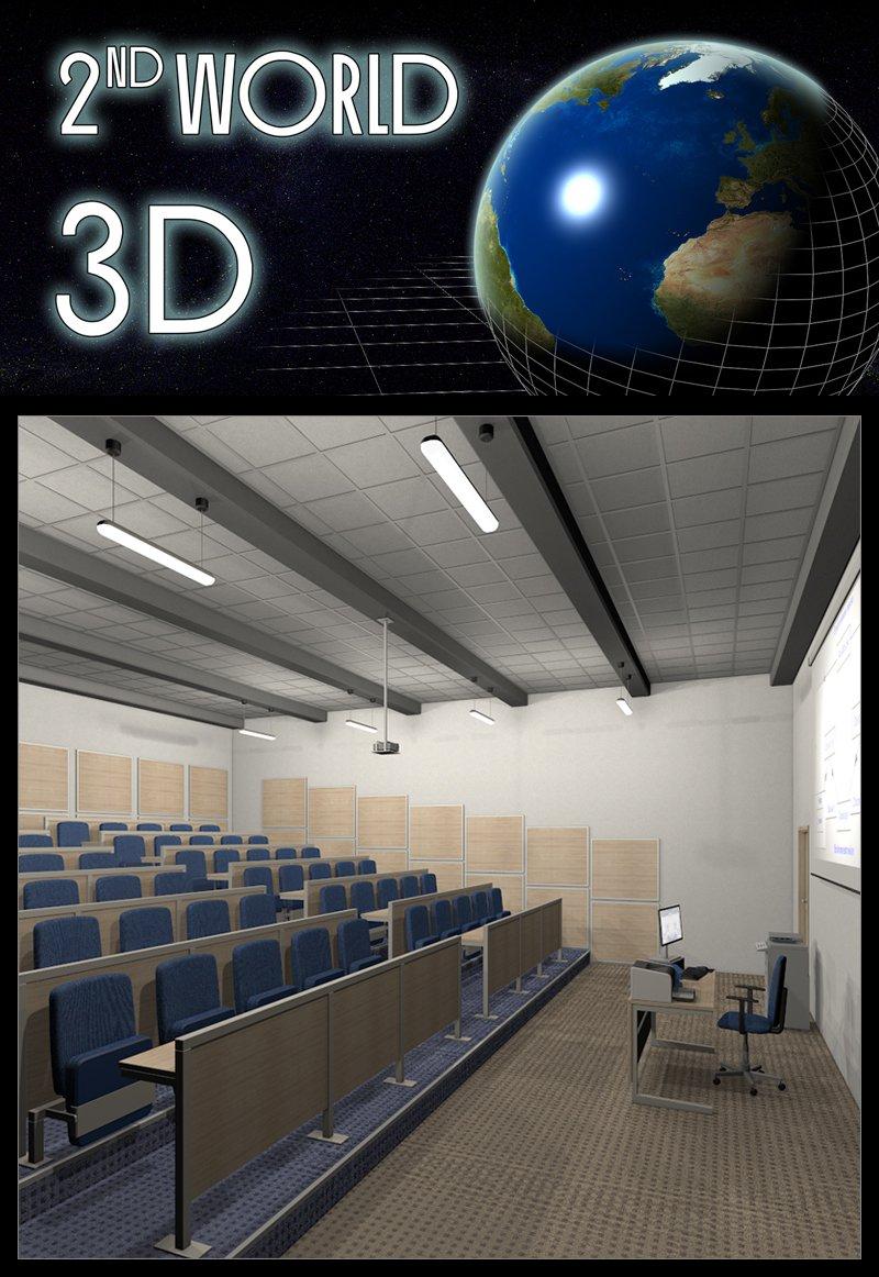 College, Lecture Room_DAZ3D下载站
