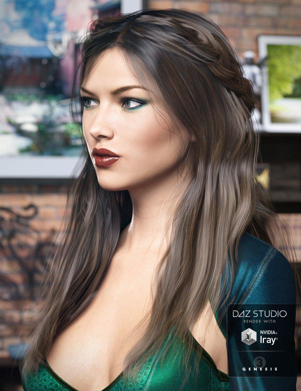 Colony Hair for Genesis 3 Female(s)_DAZ3D下载站