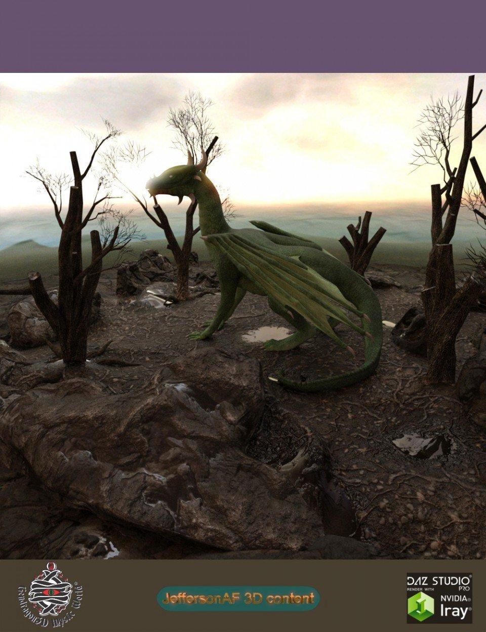 Desolate and Dead Land_DAZ3D下载站