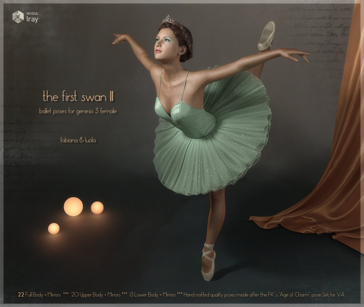 First Swan Two- Poses for the Genesis 3 Female_DAZ3D下载站