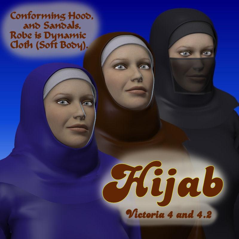 Hijab V4_DAZ3D下载站