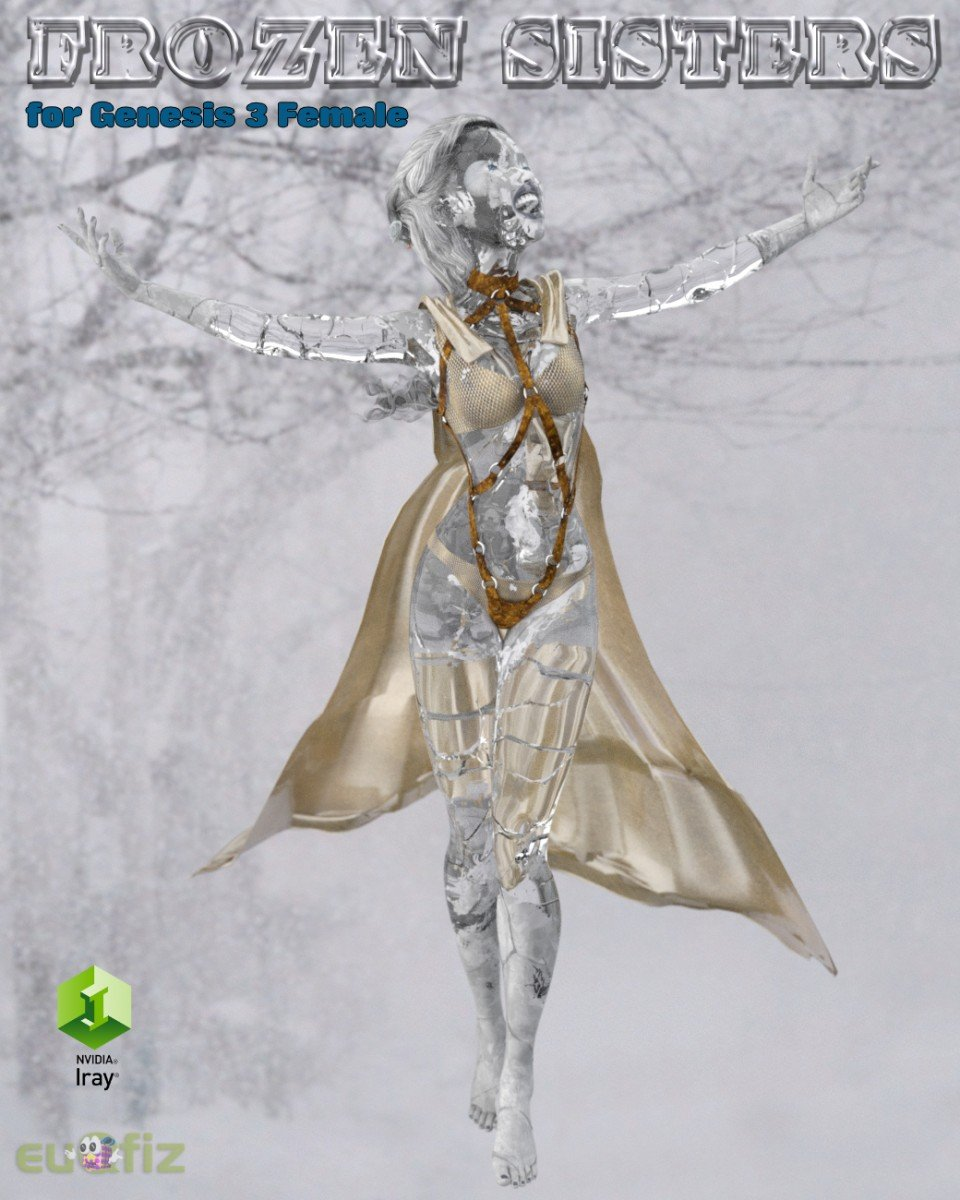 Iray Frozen Sisters for Genesis 3 Female_DAZ3D下载站