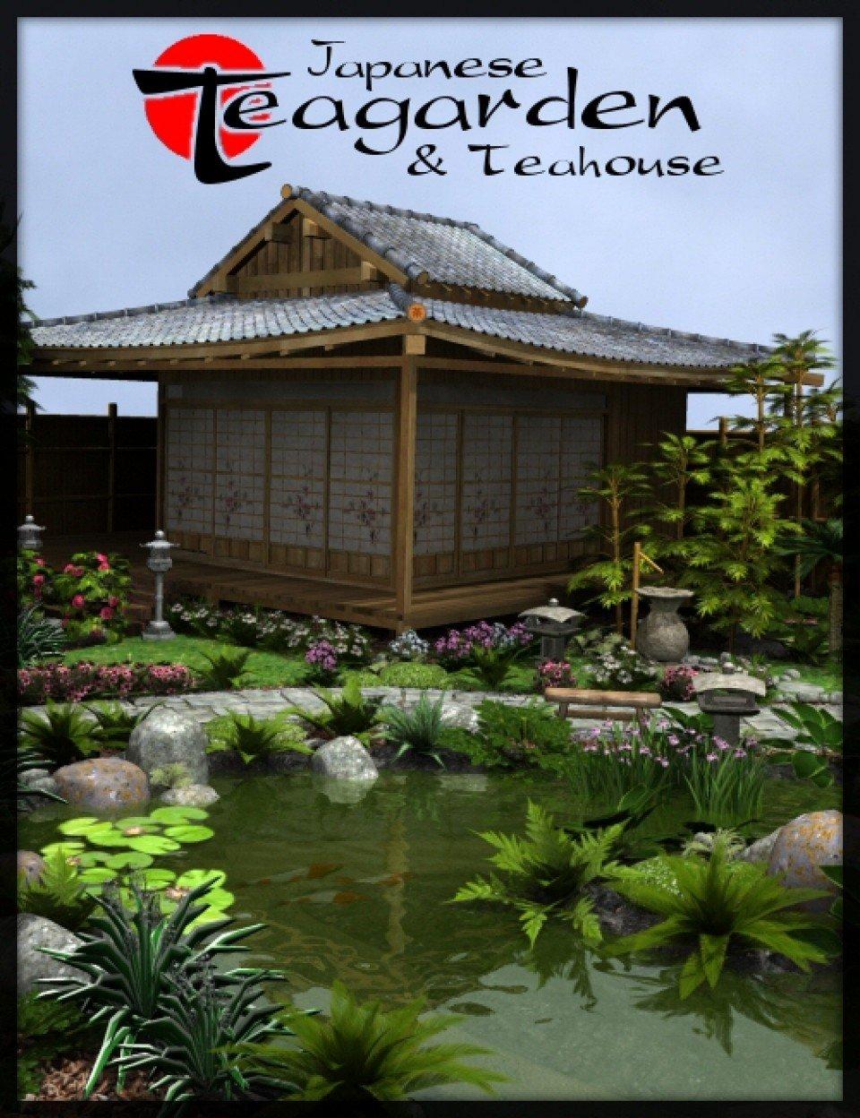 Japanese Tea Garden & Tea House Bundle_DAZ3D下载站