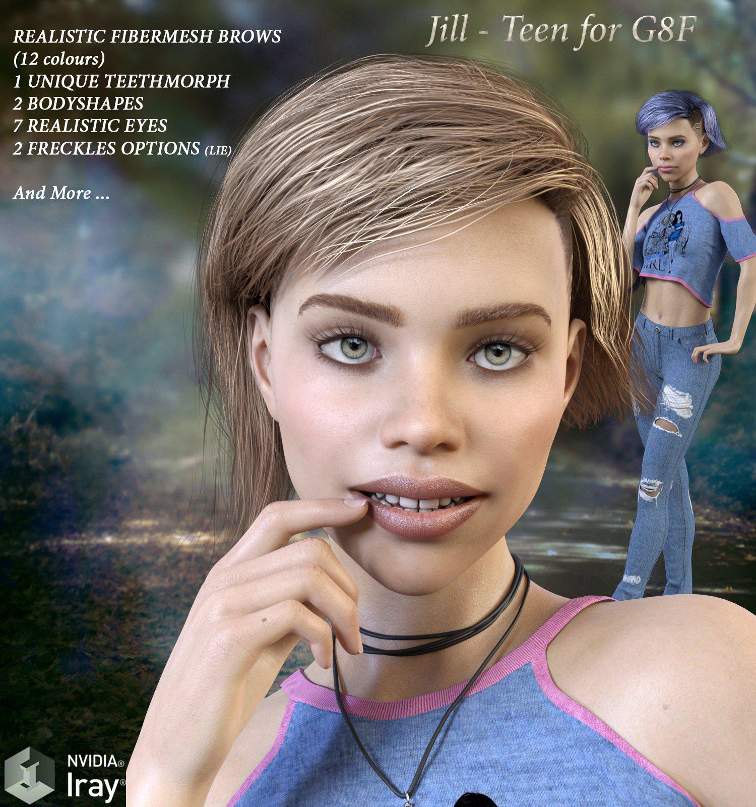 Jill – Teen for G8F_DAZ3D下载站