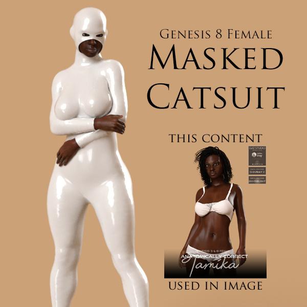 Masked Catsuit for Genesis 8 Female_DAZ3D下载站