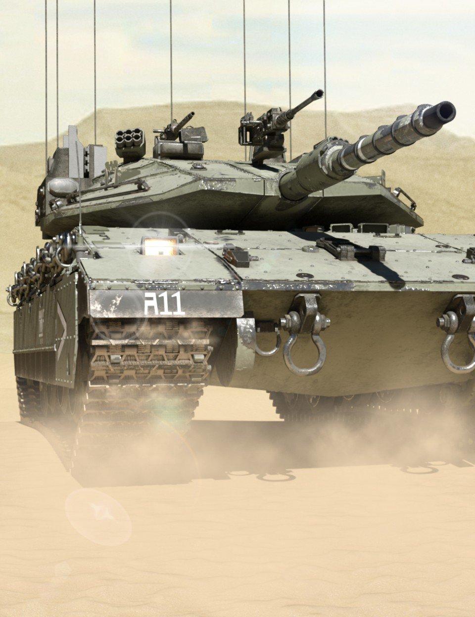 Merkava Tank_DAZ3D下载站