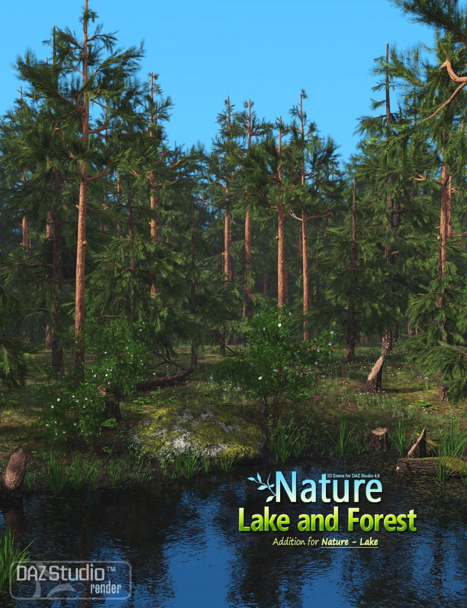 Nature – Lake and Forest_DAZ3D下载站