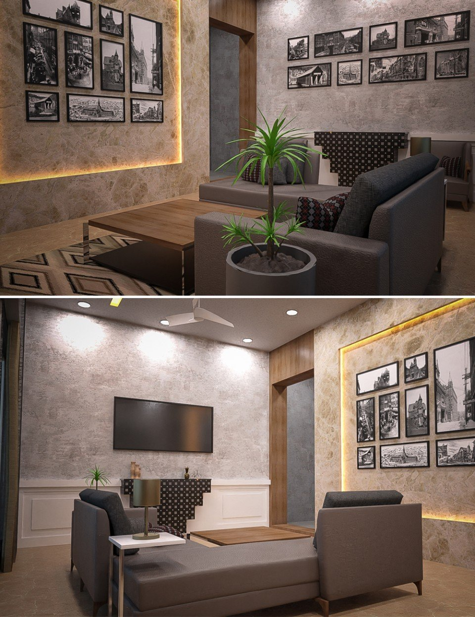 Neat Living Room_DAZ3D下载站