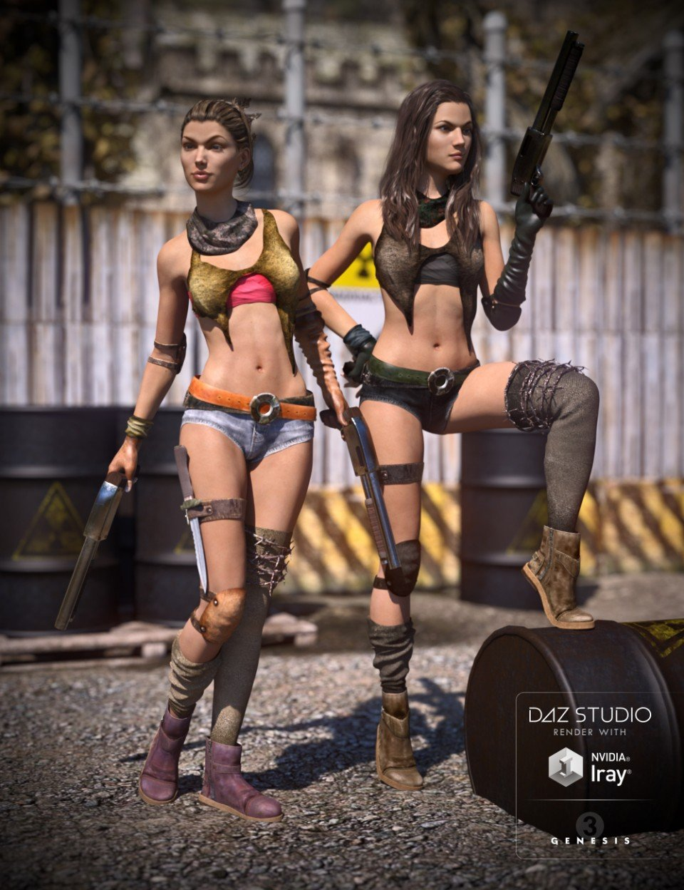 Post Apocalyptic Outfit Textures_DAZ3D下载站