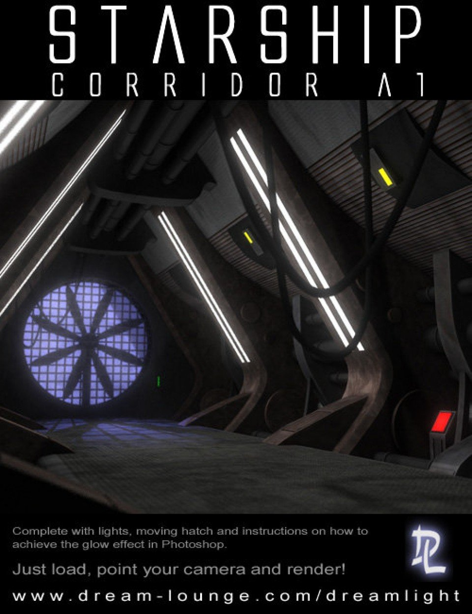 Starship Corridor A1 for DS_DAZ3D下载站