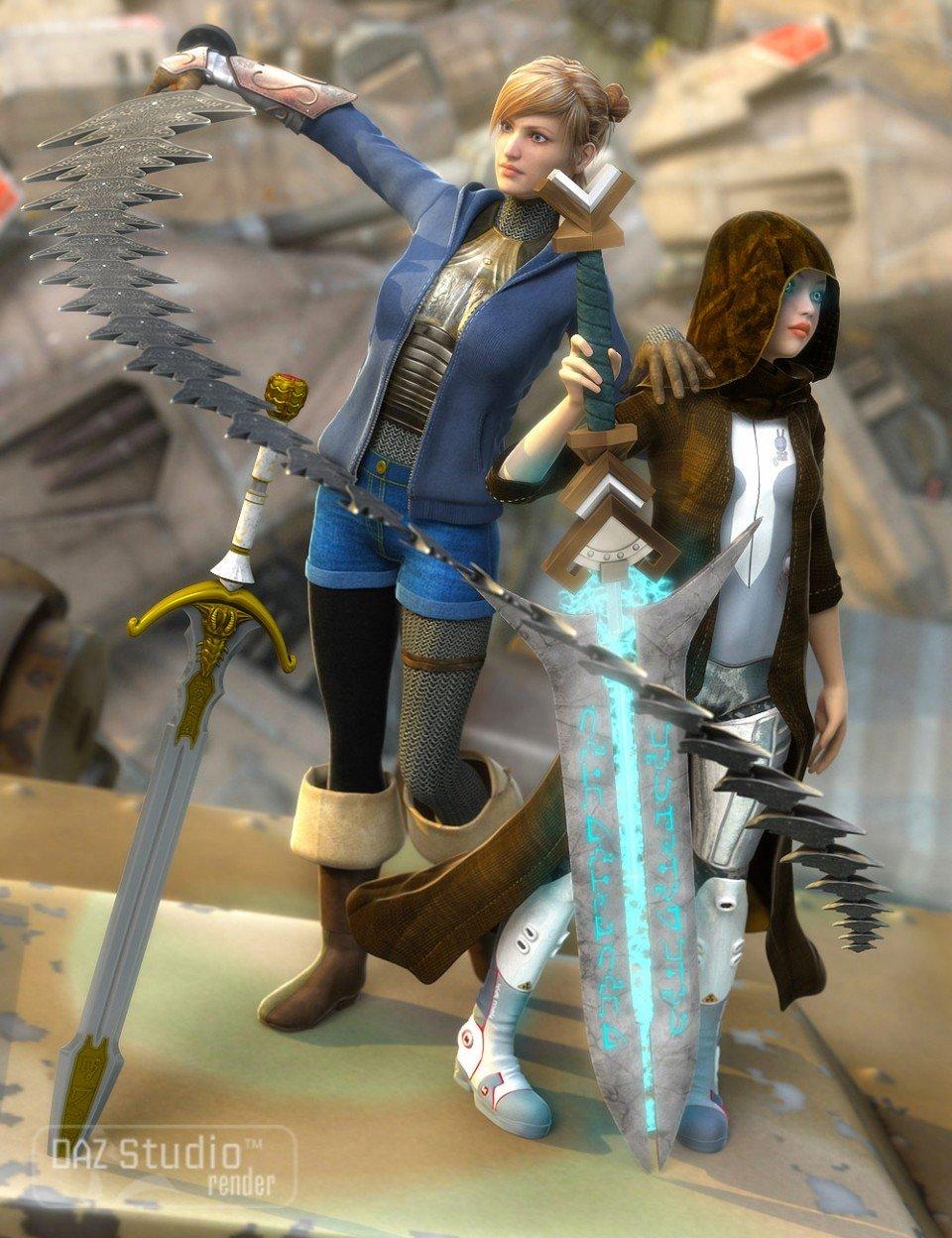 Swords Fantastic_DAZ3D下载站