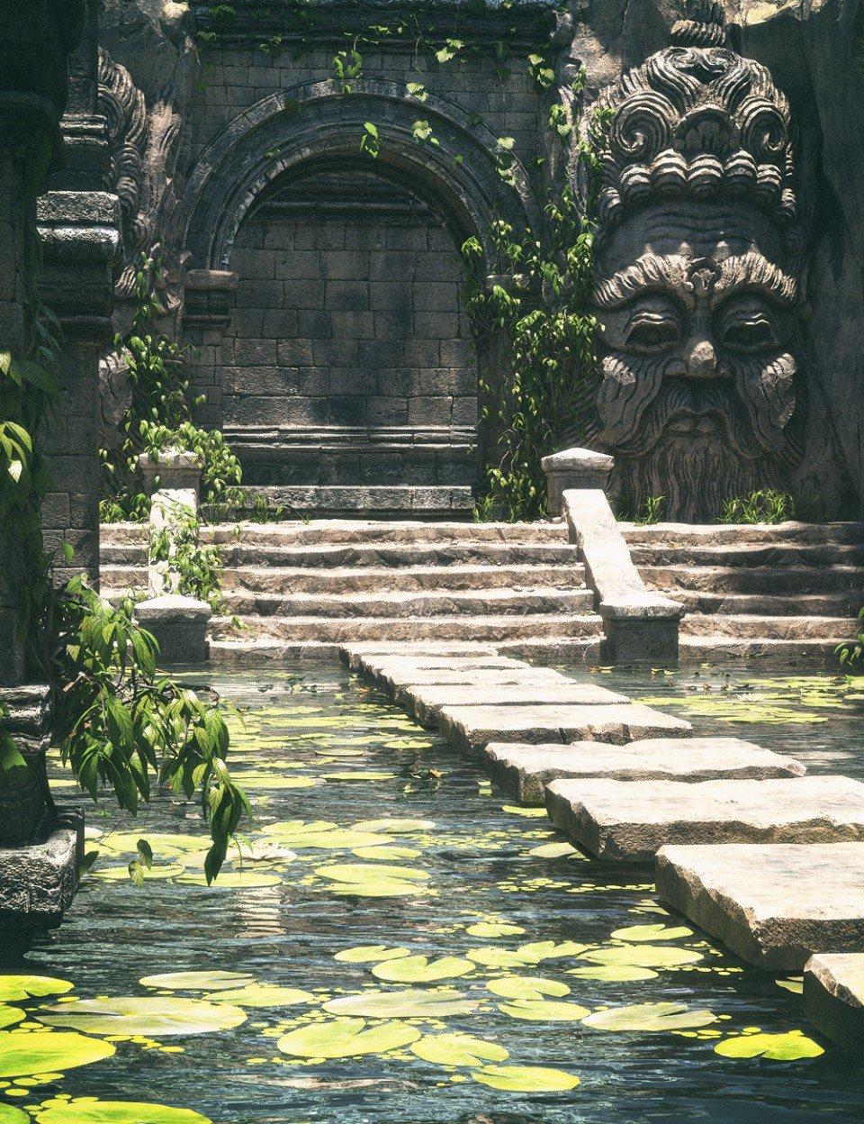 Temple Pool_DAZ3D下载站