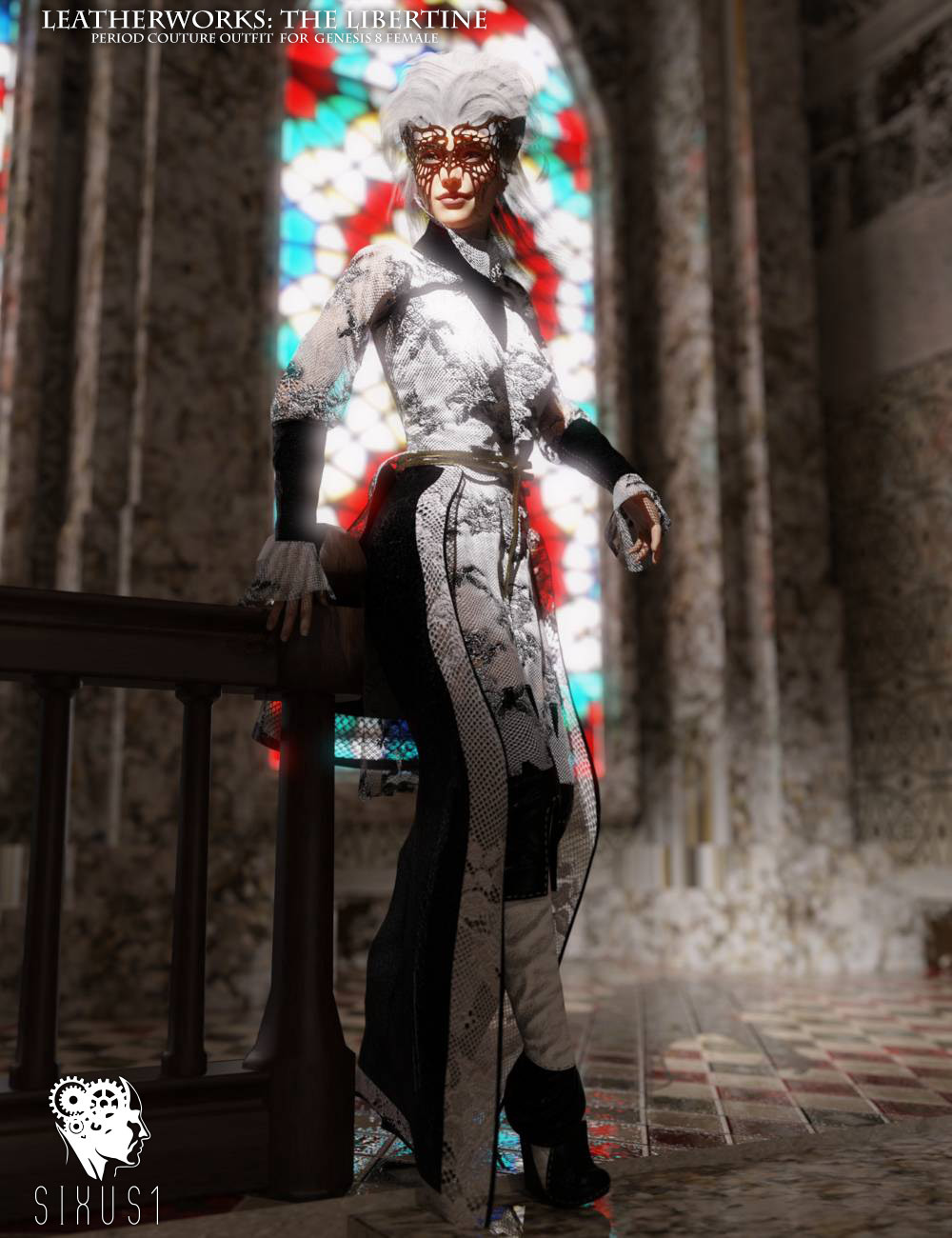 The Libertine Outfit for Genesis 8 Female_DAZ3D下载站