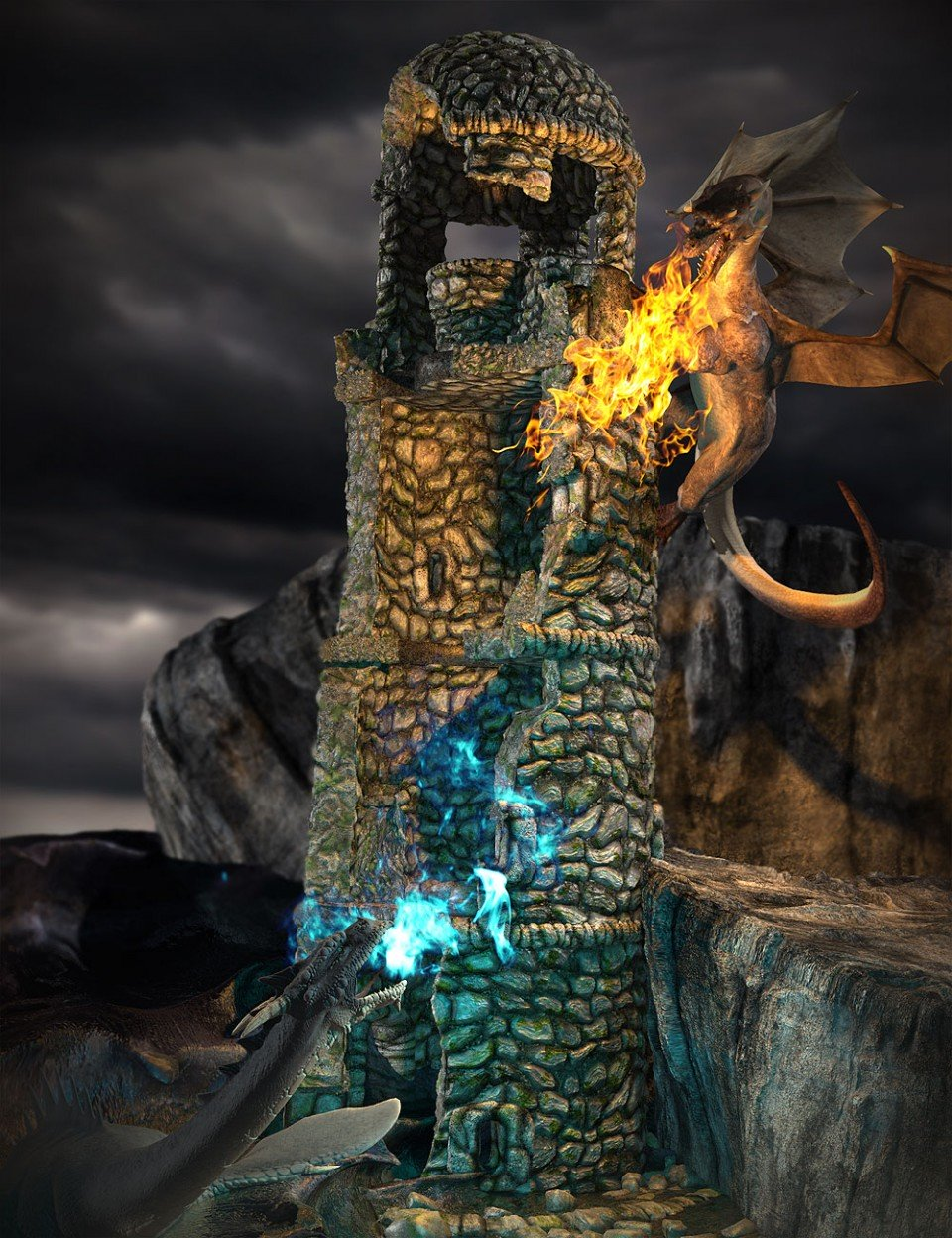 Torprin Tower_DAZ3D下载站