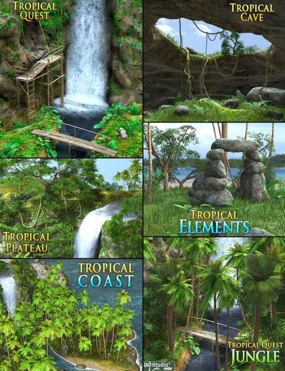 Tropical Bundle_DAZ3D下载站