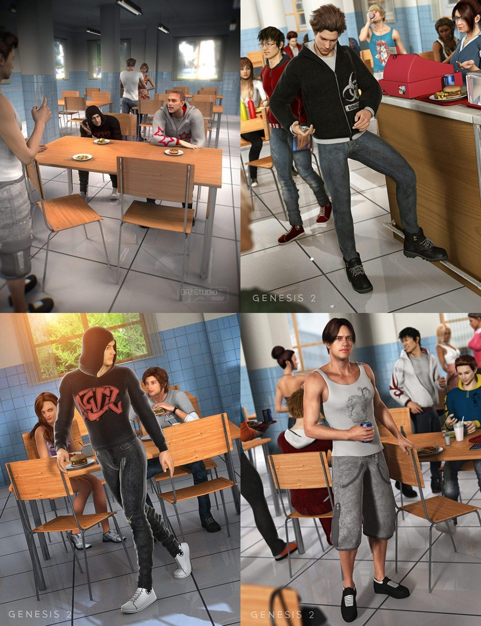 Truancy Bundle + Add-ons_DAZ3D下载站