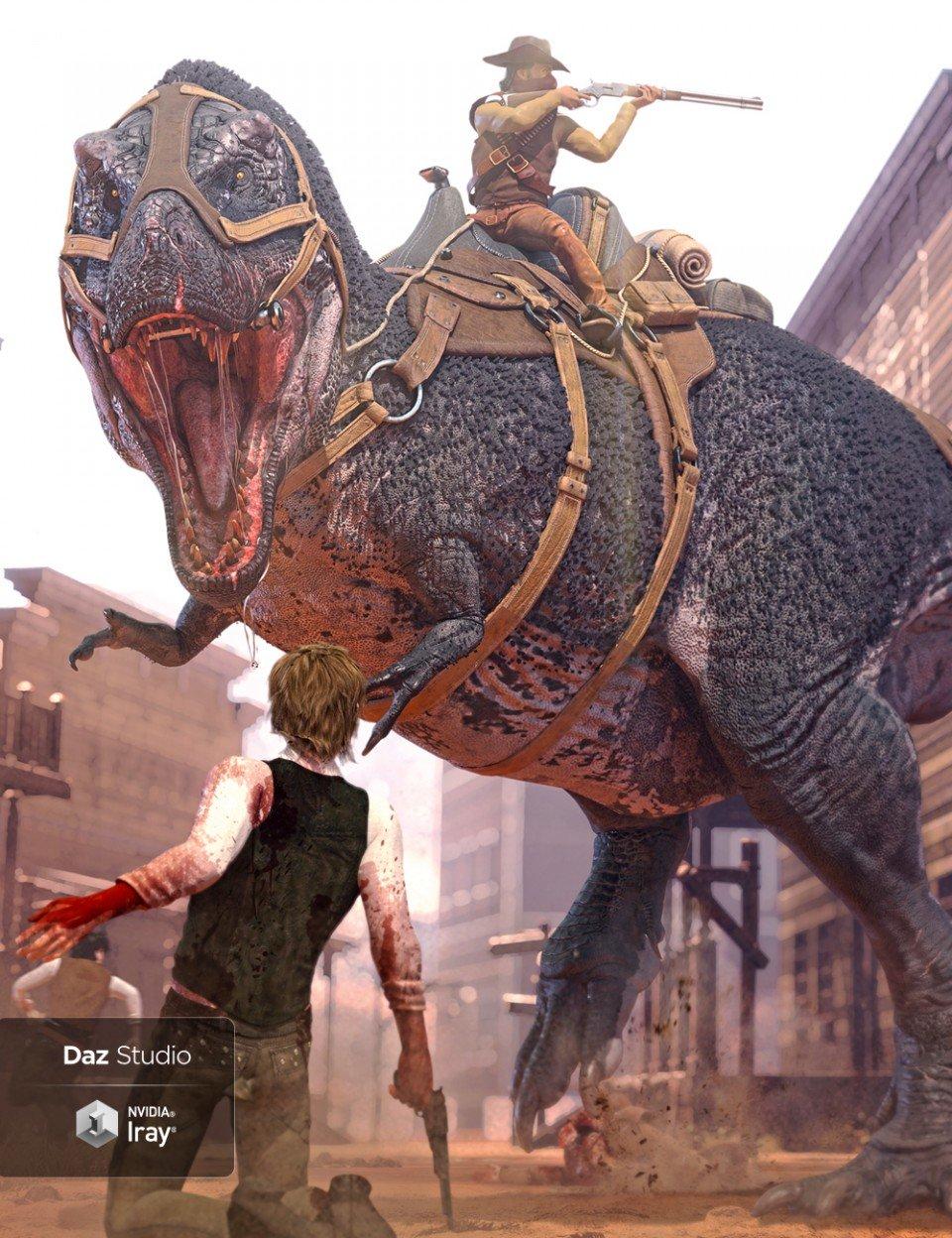 Tyrannosaurus Rex 3 Saddles and Poses_DAZ3D下载站