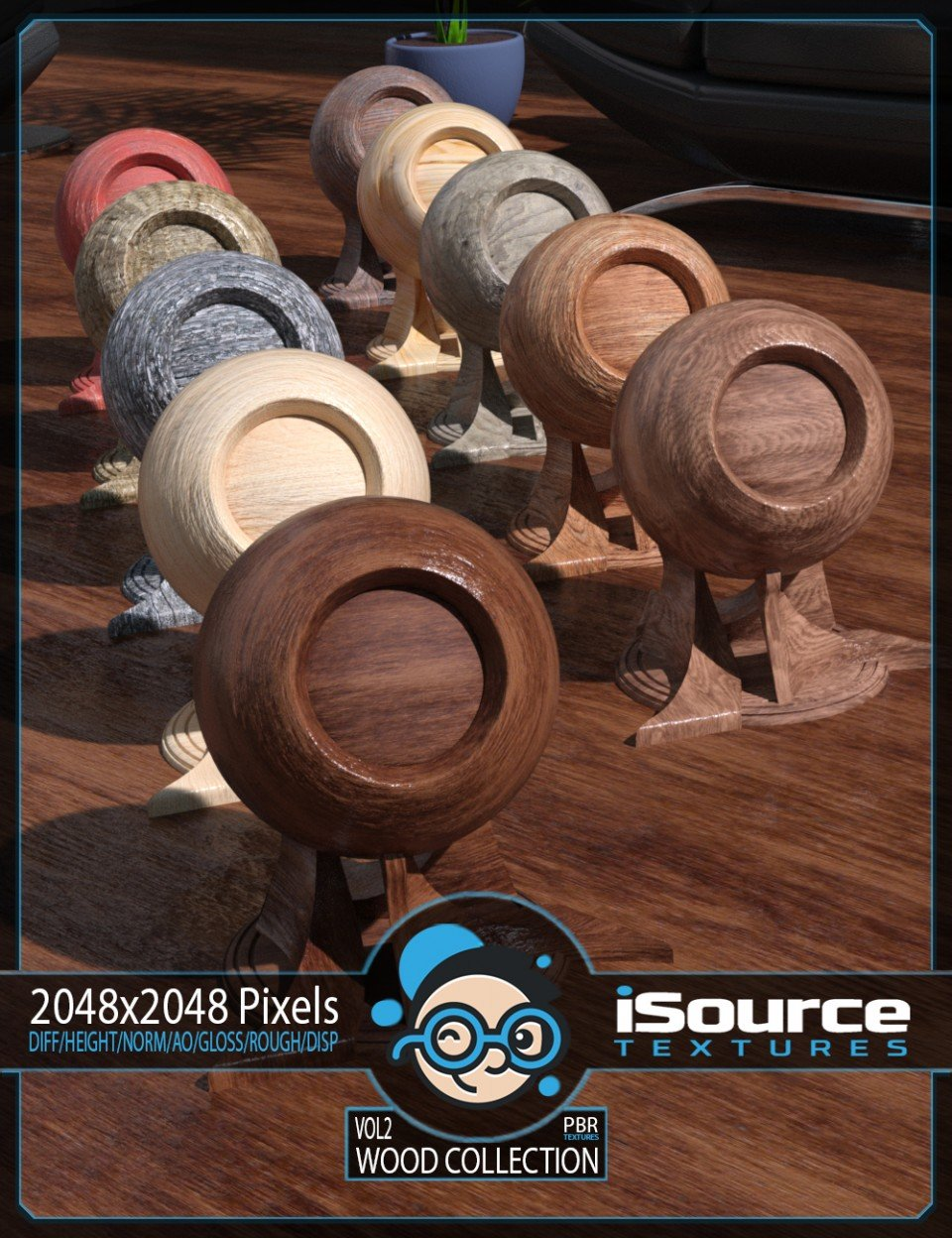 Wood Collection Merchant Resource – Vol2 (PBR Textures)_DAZ3D下载站