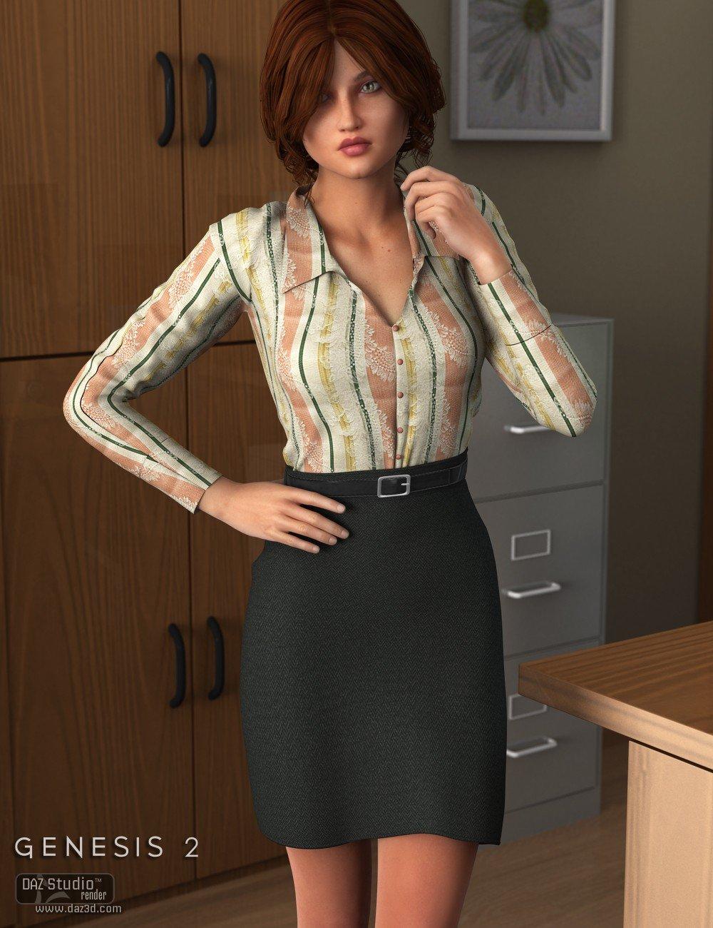 Workday Dress 2 for Genesis 2 Female(s)_DAZ3D下载站