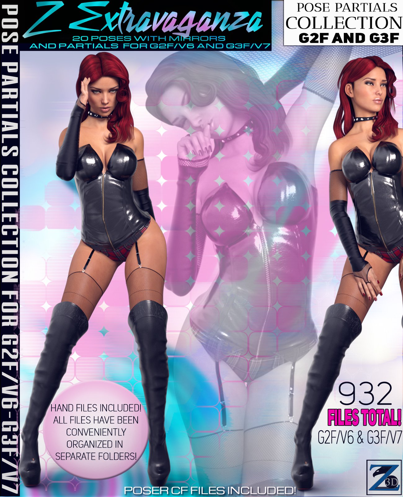 Z Extravaganza – Pose Separates Collection – G2F-V6/G3F-V7_DAZ3D下载站
