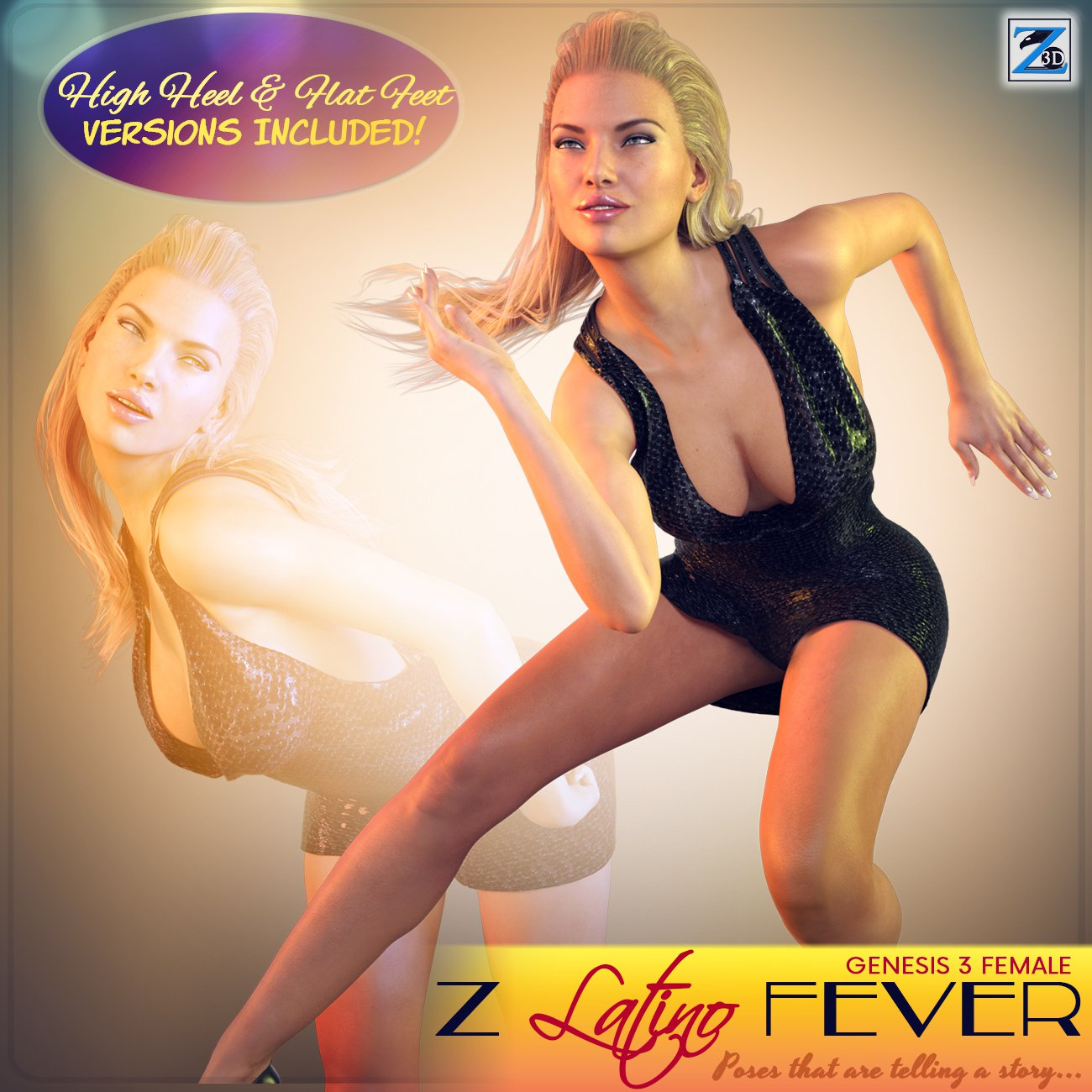 Z Latino Fever – Poses for the Genesis 3 Female(s)_DAZ3D下载站