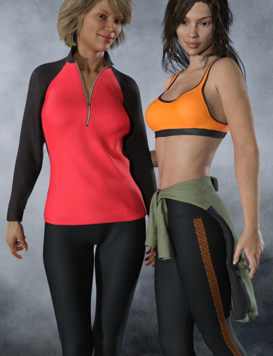 dForce Tek Athletic Apparel for Genesis 3 and 8 Female(s)_DAZ3D下载站