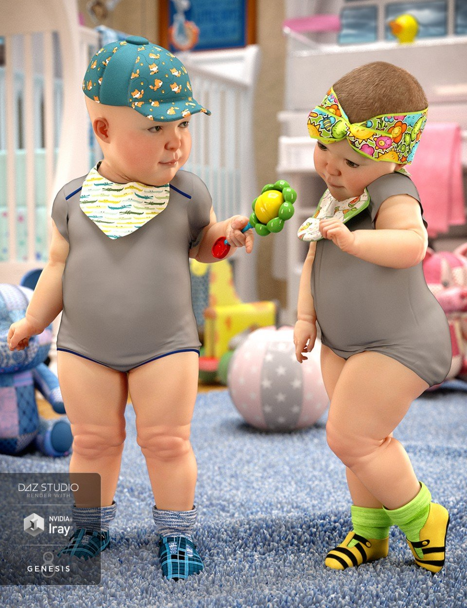 Baby Accessories for Genesis 8_DAZ3D下载站