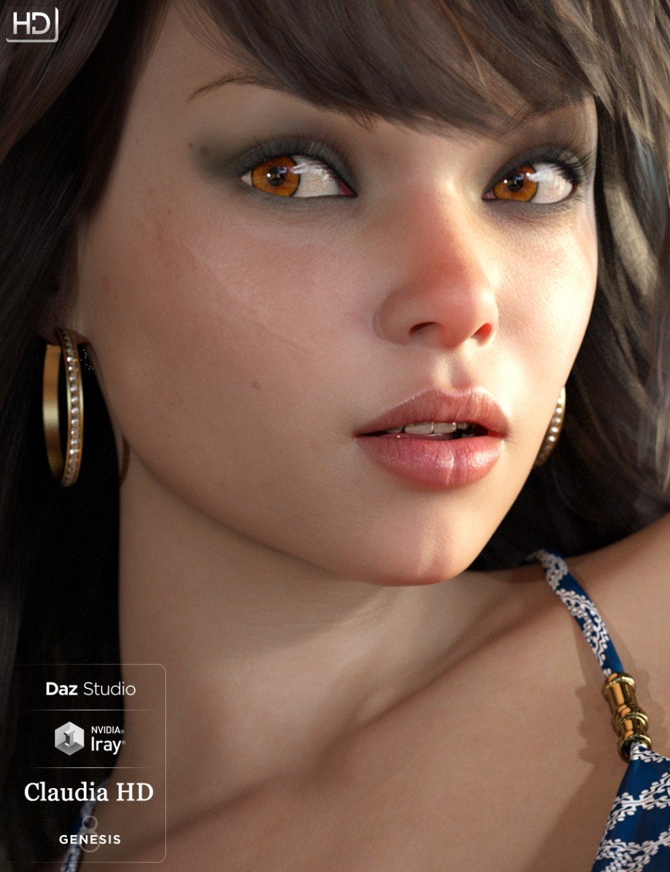 Claudia Octavia HD For Genesis 8 Female_DAZ3D下载站