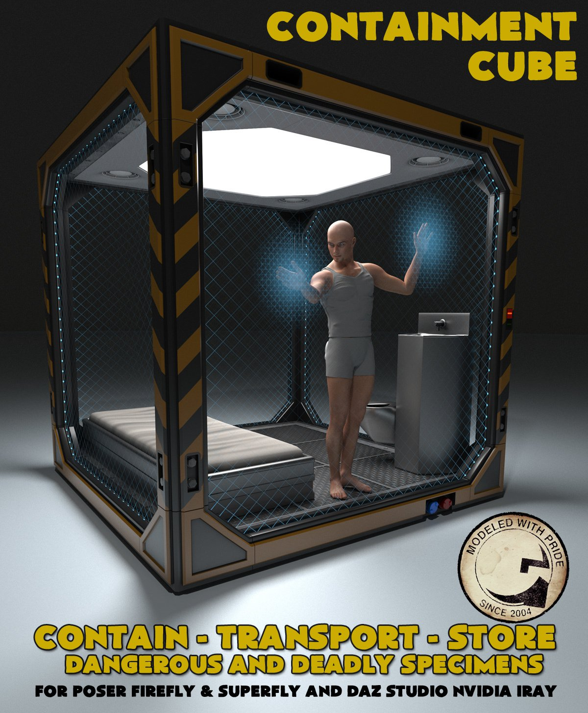 Containment Cube for Poser and DS_DAZ3D下载站
