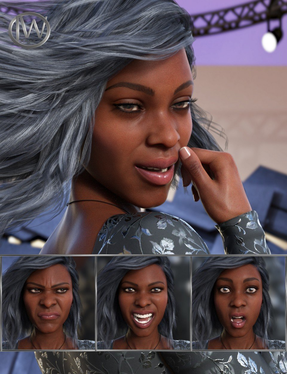 Feel – Expressions for Genesis 8 Female and Darcy 8_DAZ3D下载站