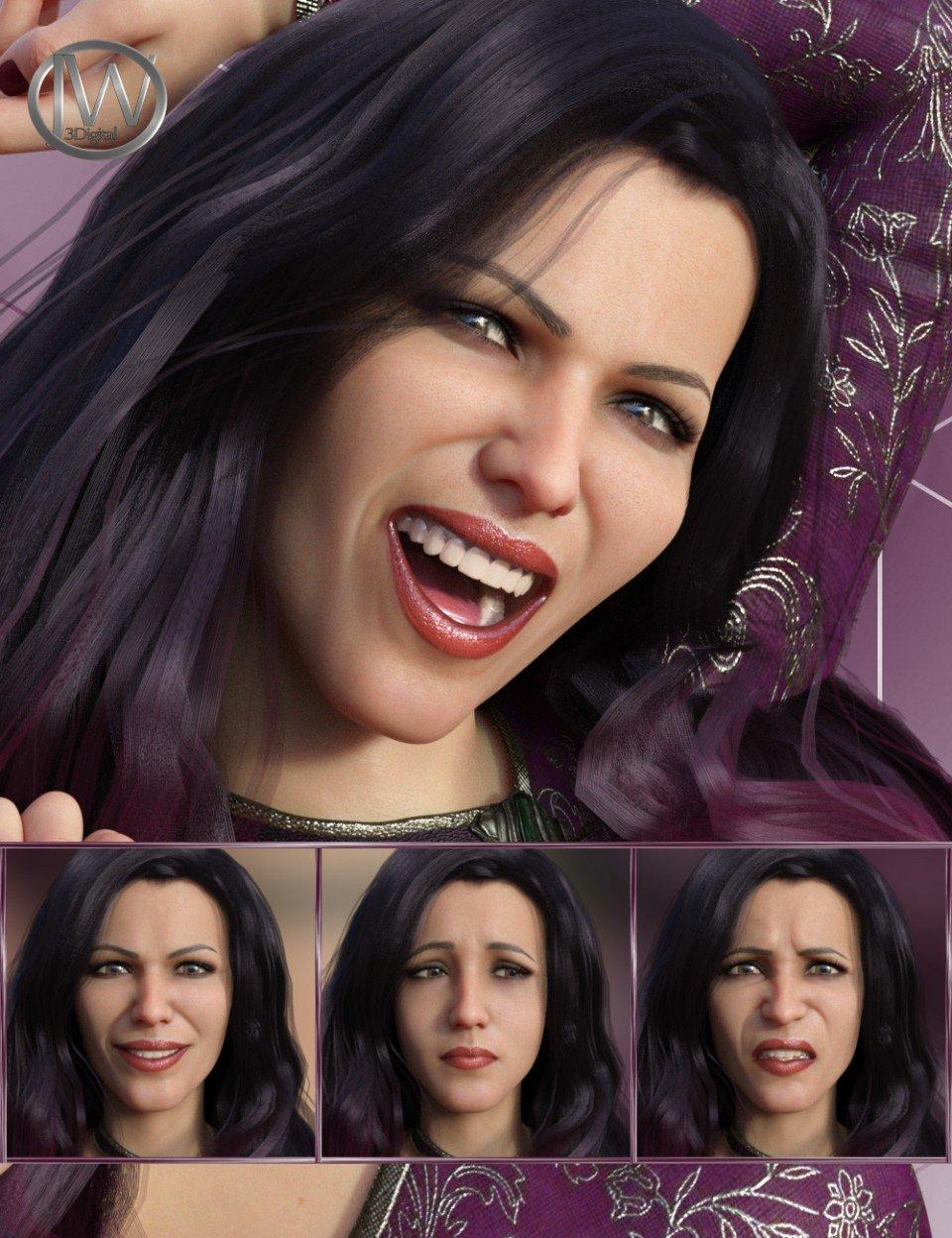 Feelings – Expressions for Genesis 8 Female and Bridget 8_DAZ3D下载站