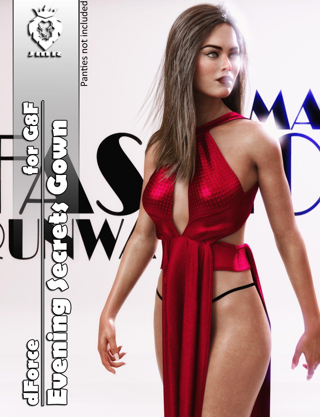 JMR dForce Evening Secrets Gown for G8F_DAZ3D下载站