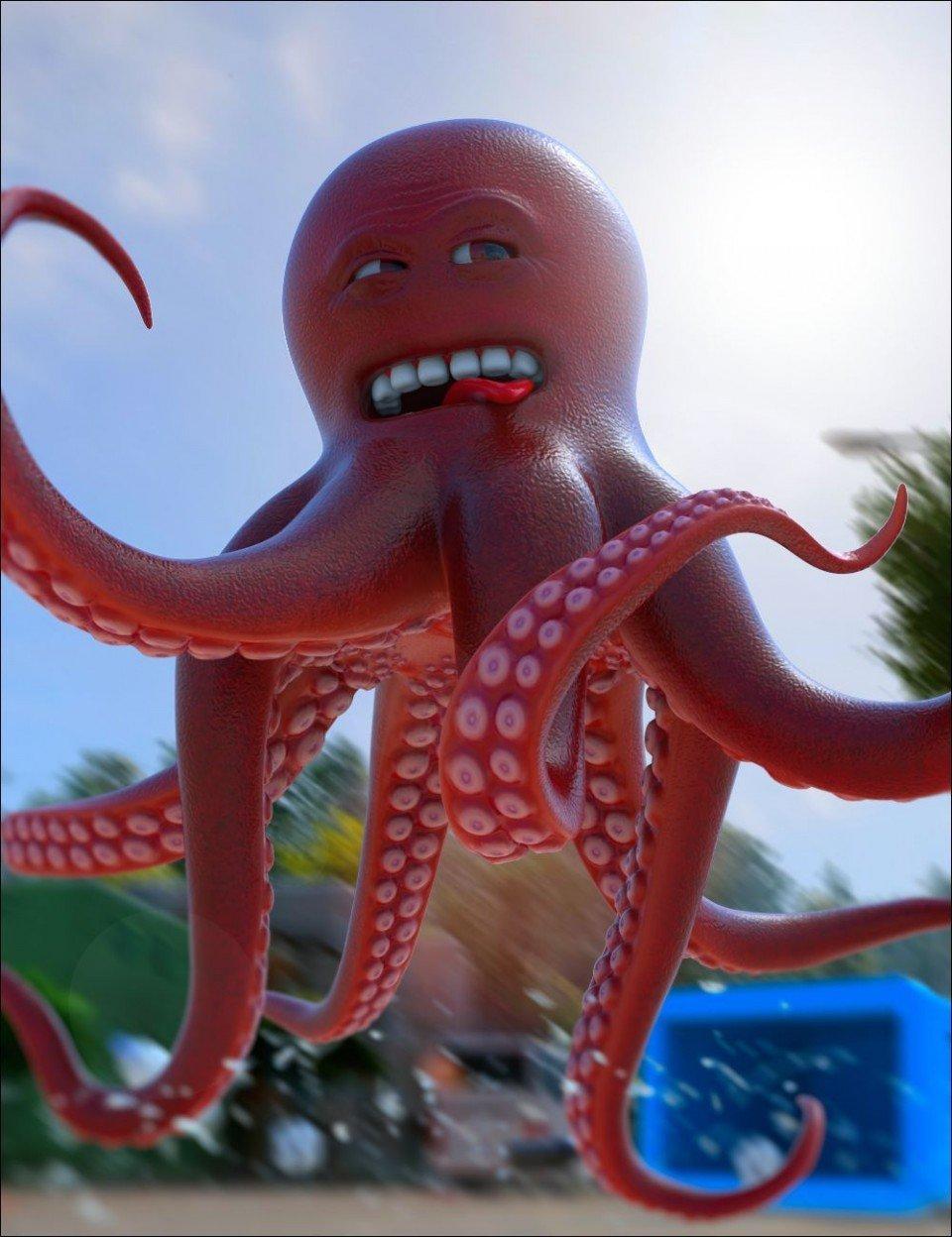 OTTO – The Mad Octopus_DAZ3D下载站