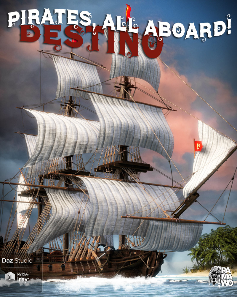 Pirates, All Aboard! Destino DS_DAZ3D下载站