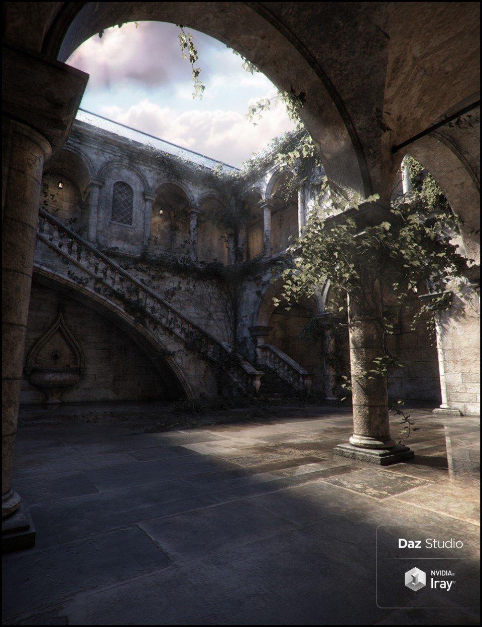 Trinity Atrium Fallen Iray Addon_DAZ3D下载站