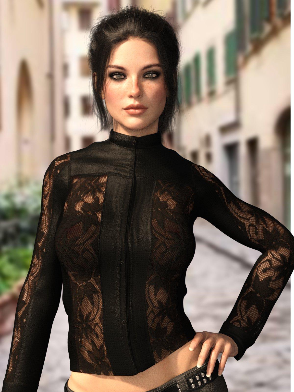 X-Fashion L&L Jacket for Genesis 8 Females_DAZ3D下载站