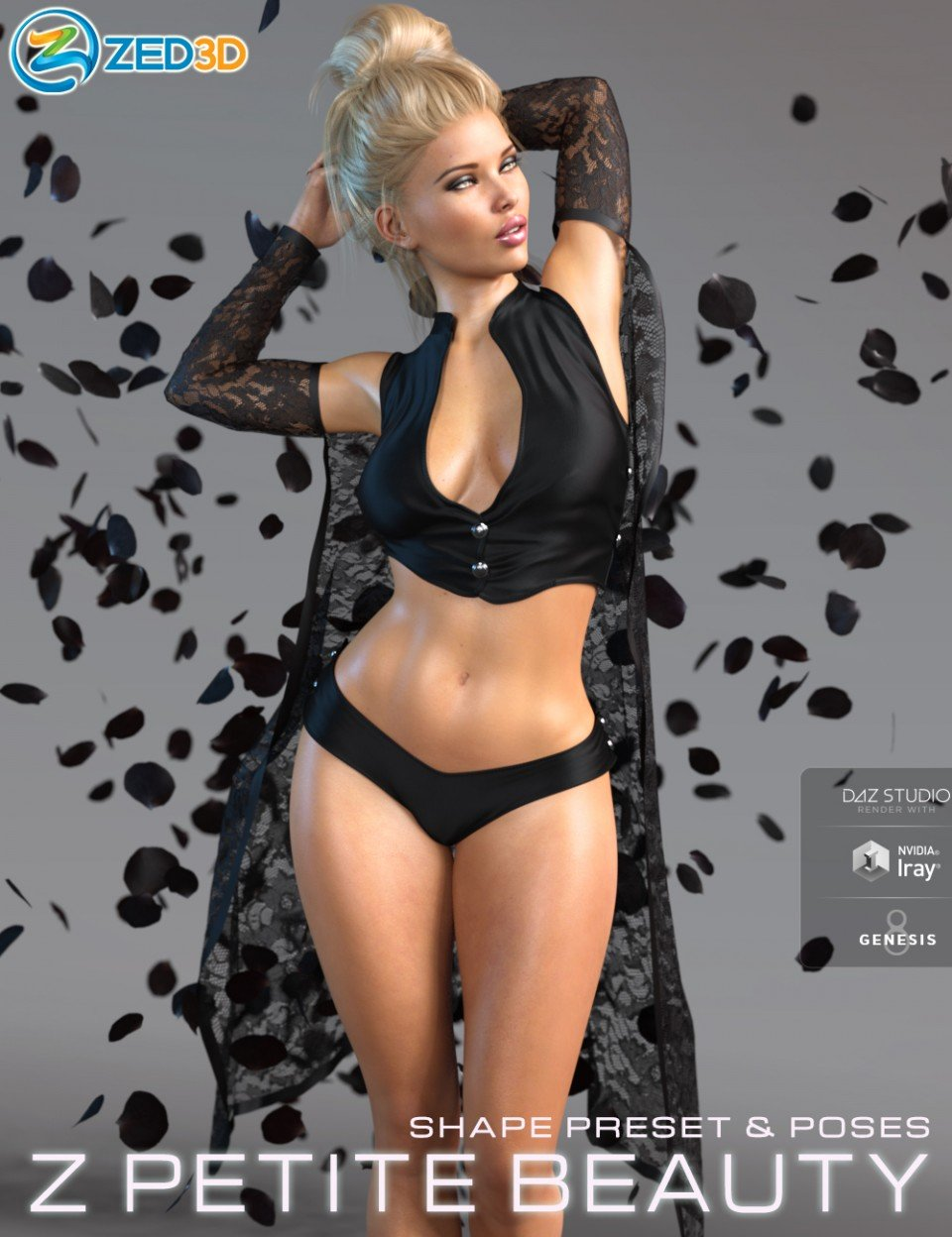 Z Petite Beauty Shape and Poses Mega Set_DAZ3D下载站