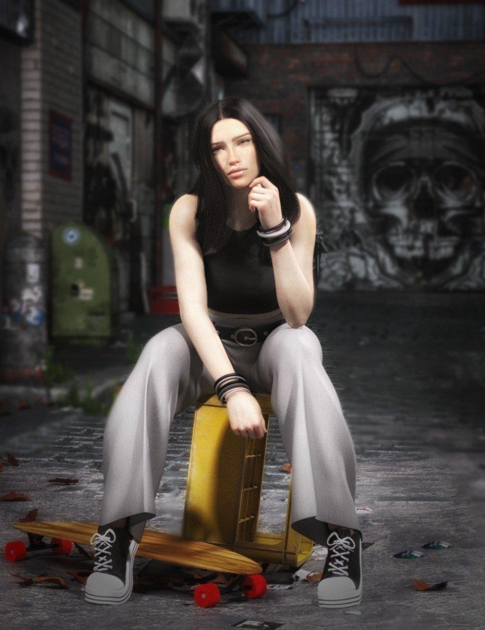 dForce Downtown Attitude for Genesis 8 Female(s)_DAZ3D下载站