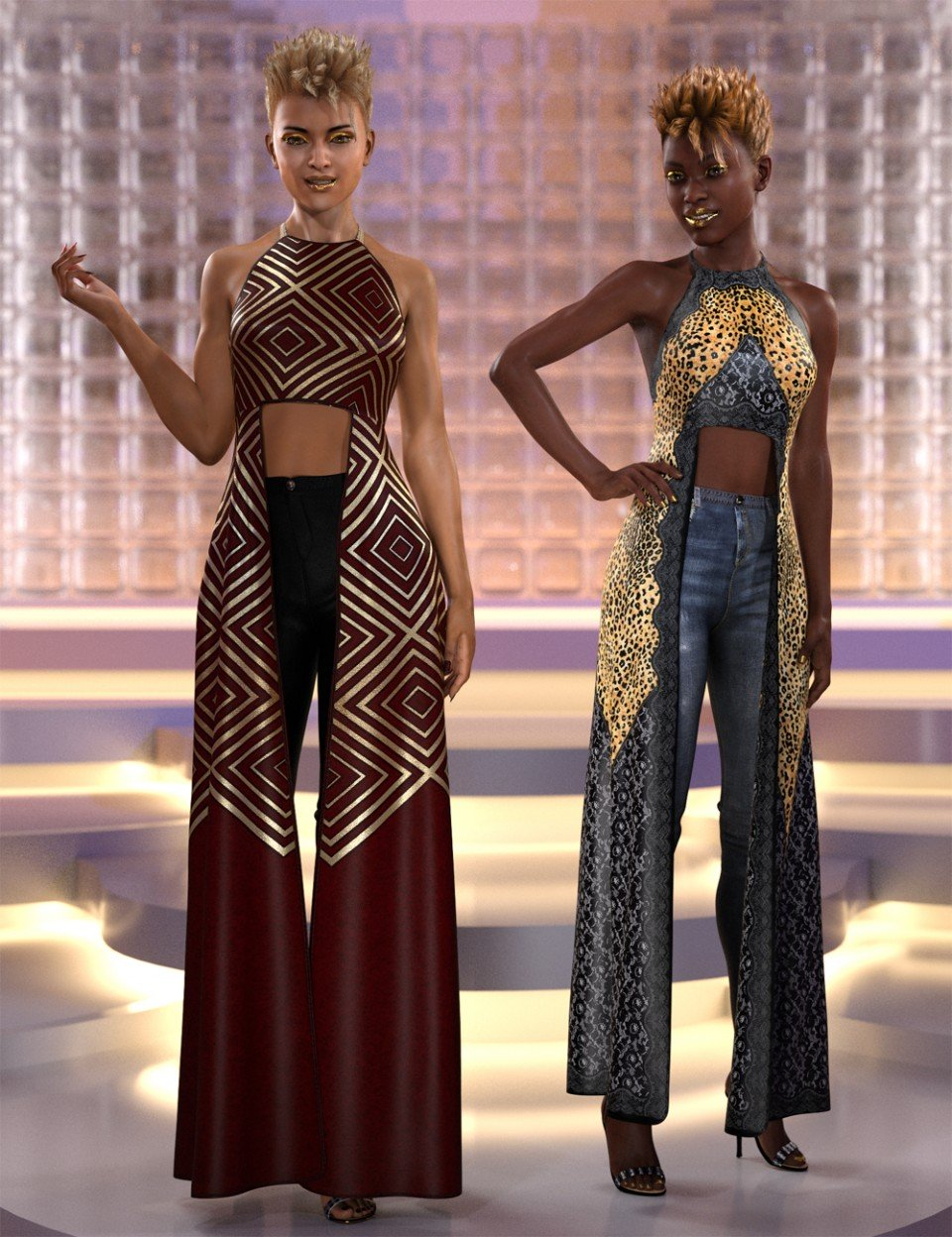 dForce Step it Up Outfit Textures_DAZ3D下载站