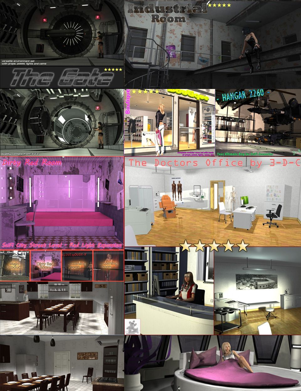 3-d-c Collection Pack_DAZ3D下载站