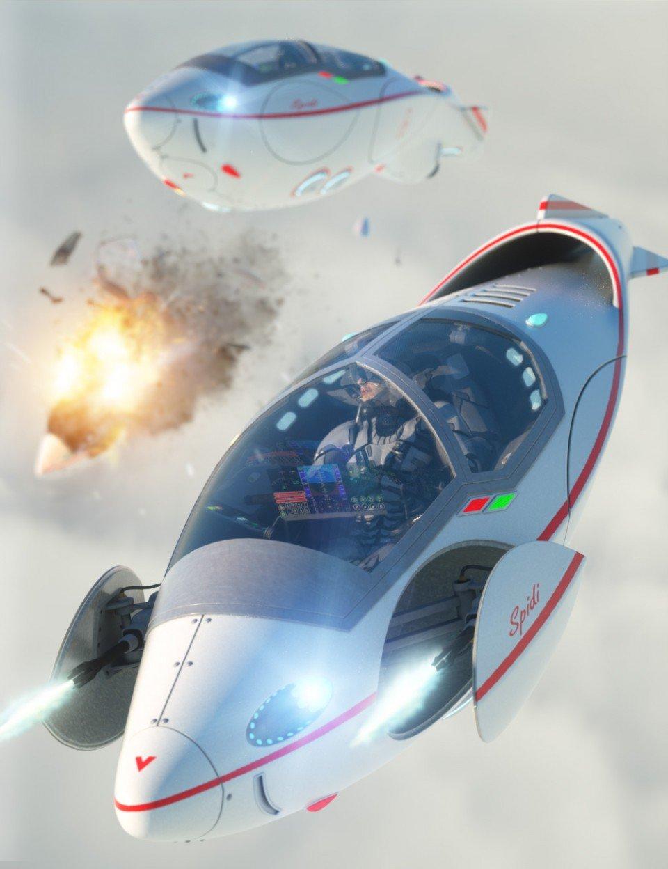 Aircraft Spidi_DAZ3D下载站