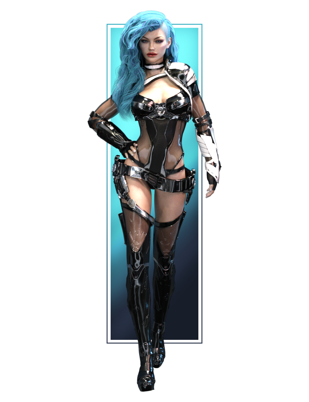 Aurora Armor Iray Materials and Aurora Head Morph_DAZ3D下载站
