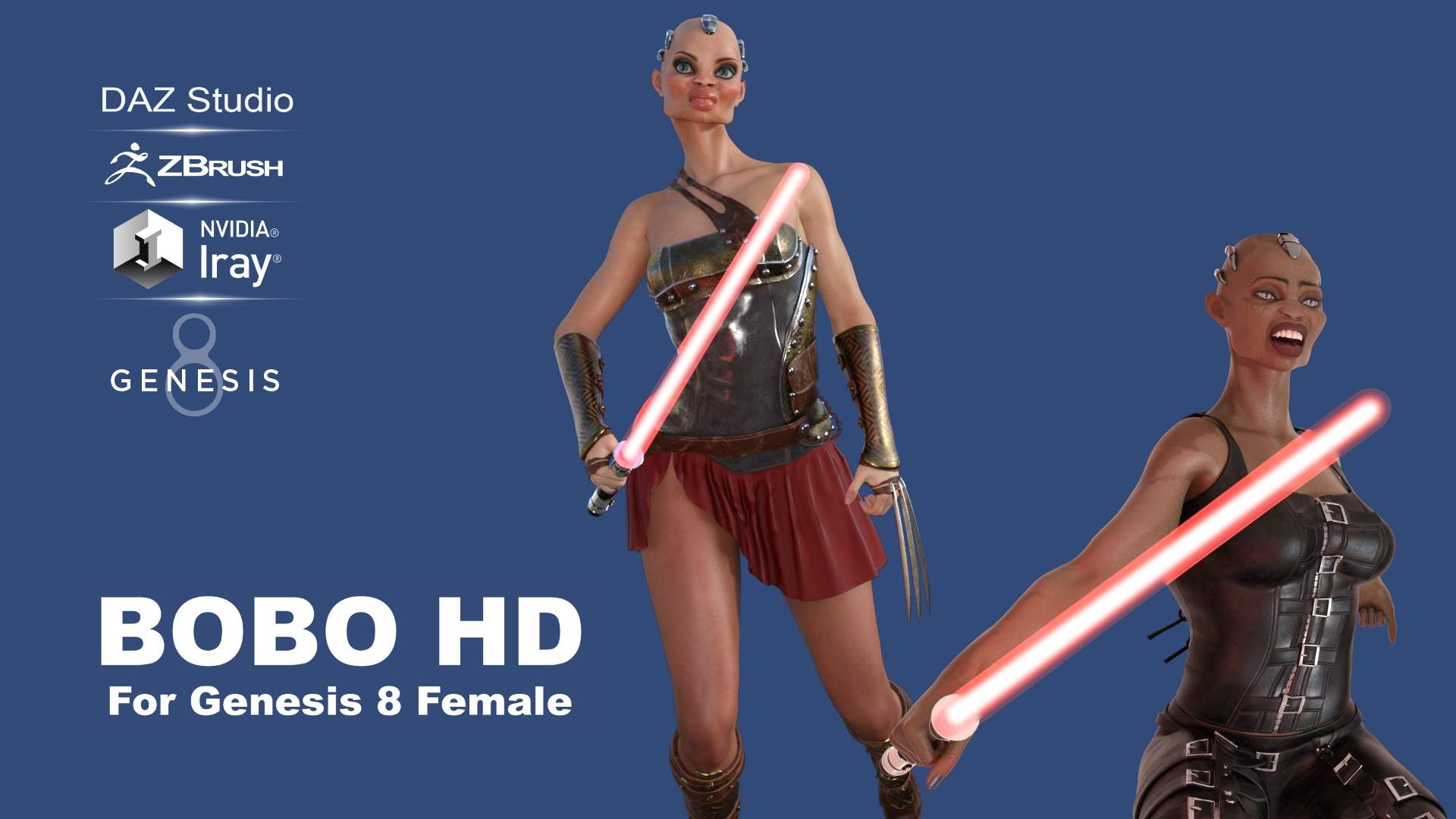 Bobo HD For Genesis 8 Female_DAZ3D下载站