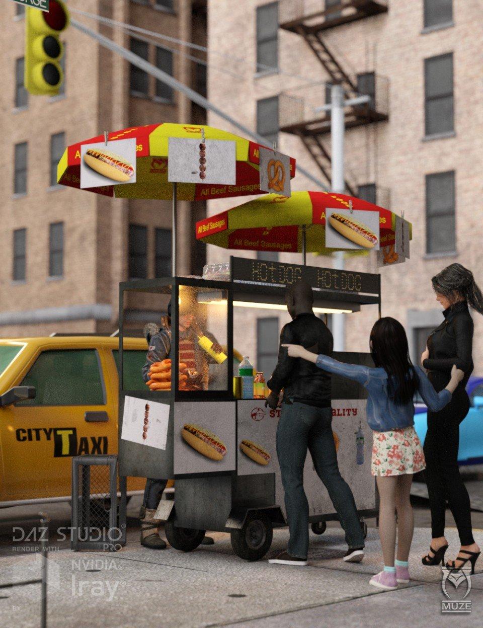 City Food Cart_DAZ3D下载站